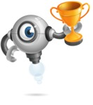 Futuristic Robot Cartoon Vector Character AKA GAR-Y - Winner