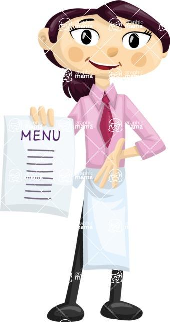 Waitress Showing Menu