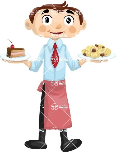 Waiter Holding Meals