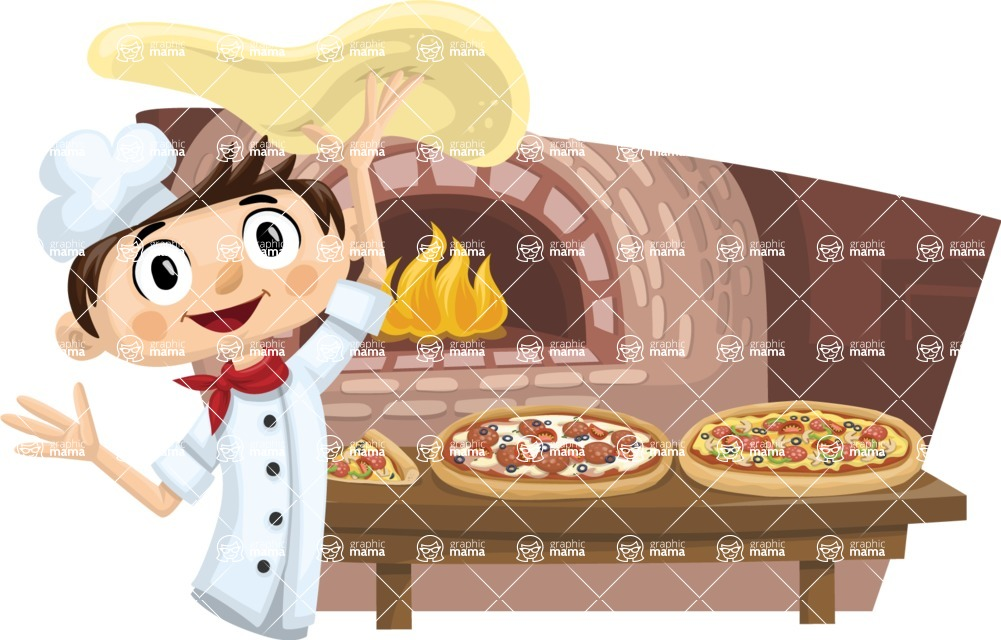 Pizza Chef Cooking