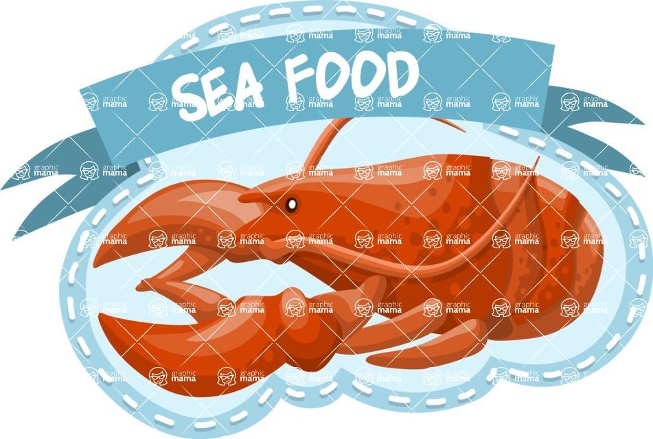 Sea Food Sticker