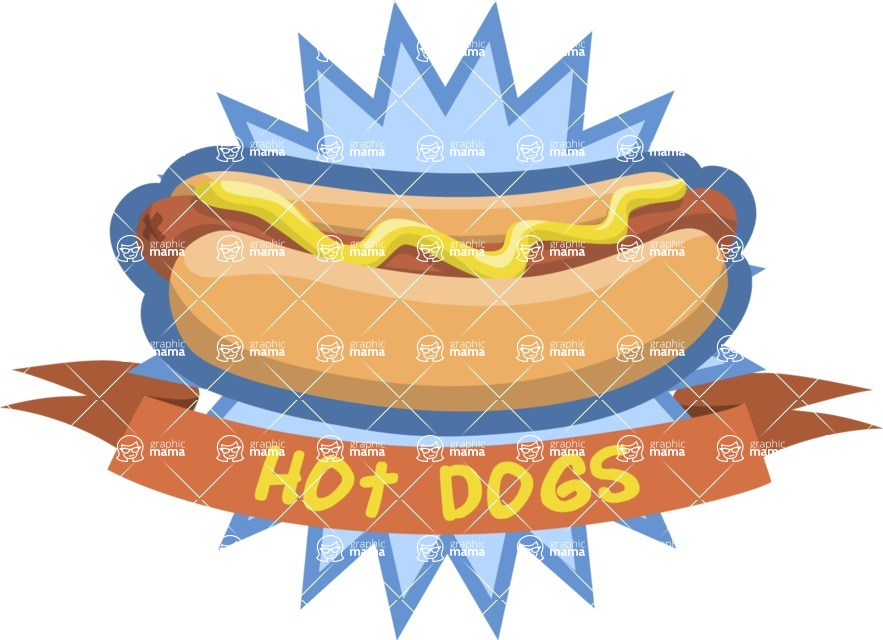Hot Dog Sticker