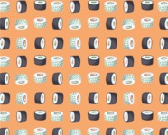 Food vector pack - menu, restaurant, meal, cook, chef, backgrounds, scenes, editable graphics, illustrations, png files for download available - Sushi Pattern 1