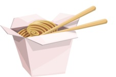 Food vector pack - menu, restaurant, meal, cook, chef, backgrounds, scenes, editable graphics, illustrations, png files for download available - Noodles in a Take-Out Box