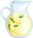 Food vector pack - menu, restaurant, meal, cook, chef, backgrounds, scenes, editable graphics, illustrations, png files for download available - Pitcher of Lemonade