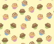 Food vector pack - menu, restaurant, meal, cook, chef, backgrounds, scenes, editable graphics, illustrations, png files for download available - Muffins Pattern 3