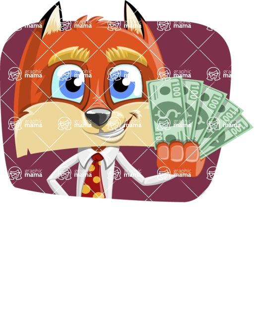 Fox with a Tie Cartoon Vector Character AKA Luke Foxman - Shape 2