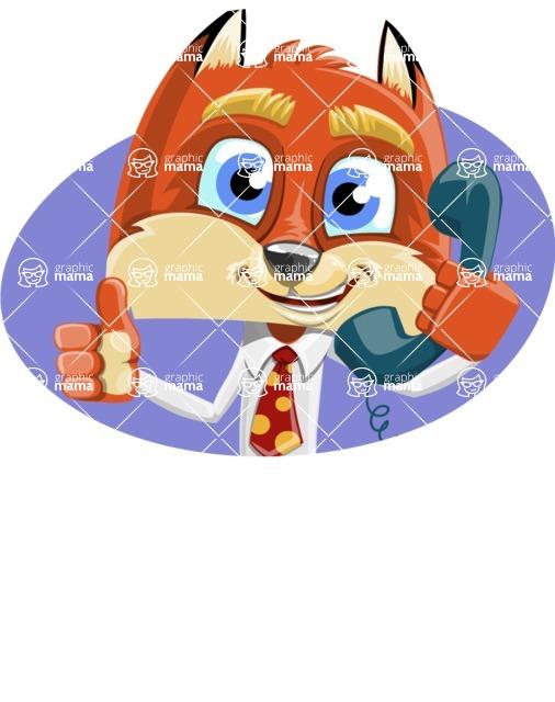 Fox with a Tie Cartoon Vector Character AKA Luke Foxman - Shape 3