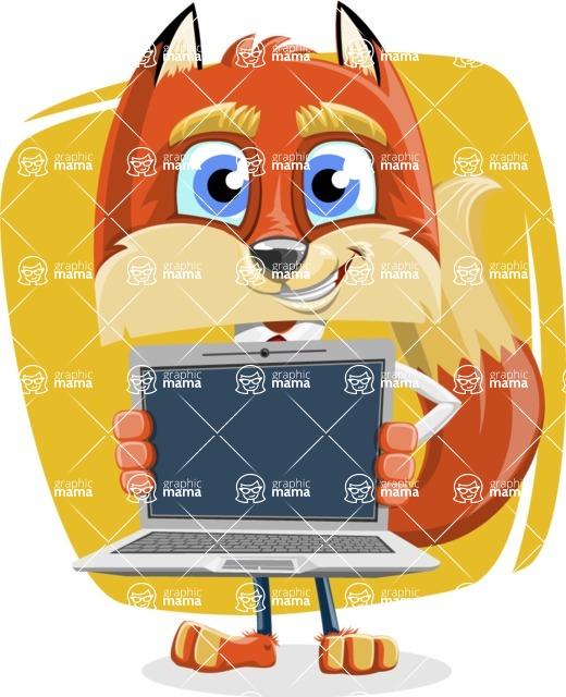 Fox with a Tie Cartoon Vector Character AKA Luke Foxman - Shape 5