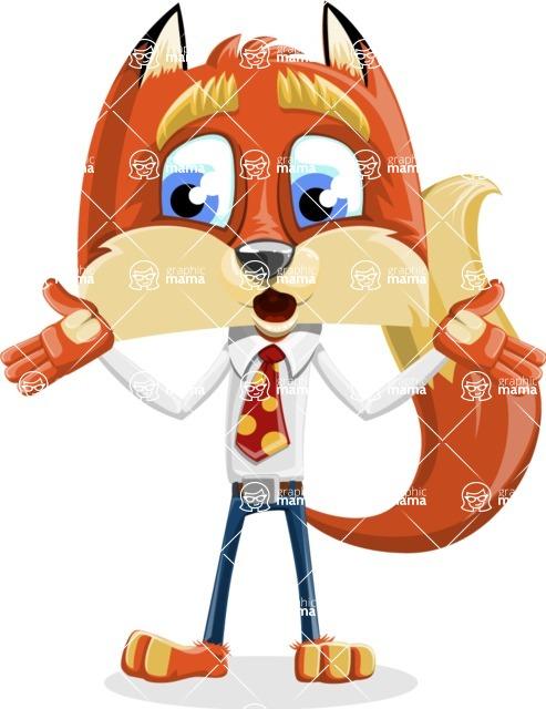 Fox with a Tie Cartoon Vector Character AKA Luke Foxman - Lost