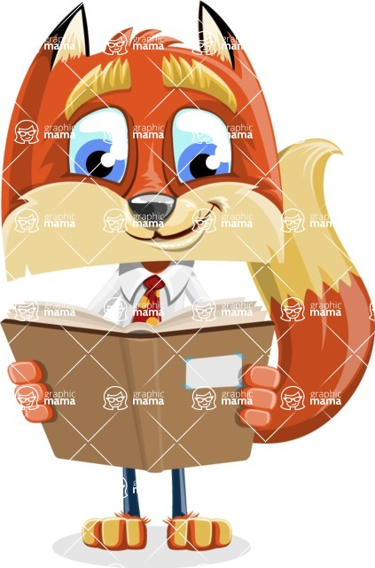 Fox with a Tie Cartoon Vector Character AKA Luke Foxman - Book 1