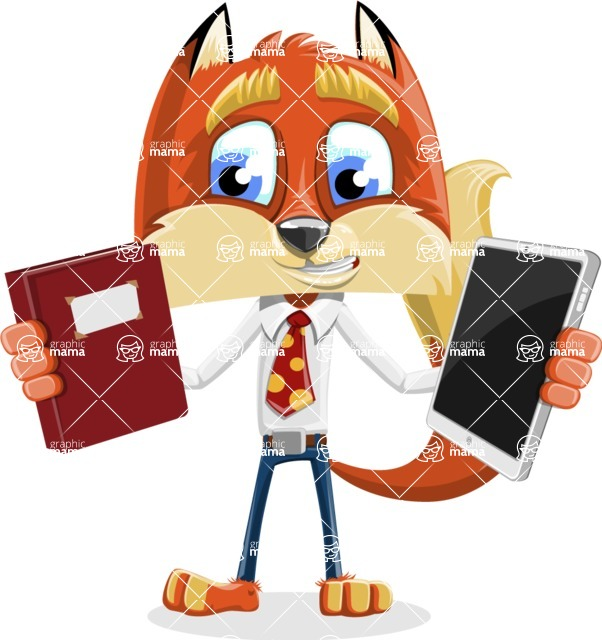 Fox with a Tie Cartoon Vector Character AKA Luke Foxman - Book and iPad