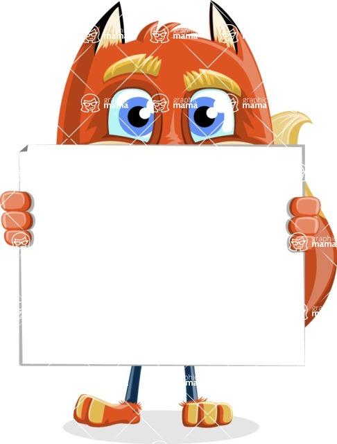 Fox with a Tie Cartoon Vector Character AKA Luke Foxman - Sign 5