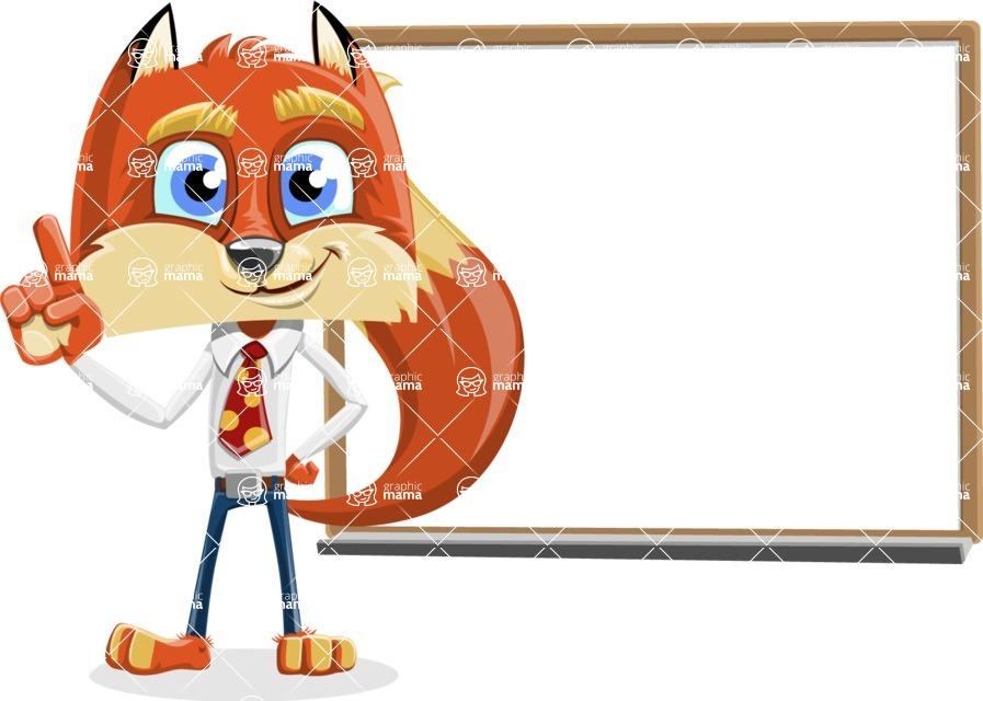 Fox with a Tie Cartoon Vector Character AKA Luke Foxman - Presentation 3