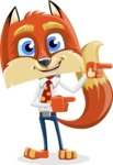 Fox with a Tie Cartoon Vector Character AKA Luke Foxman - Point 2