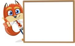 Fox with a Tie Cartoon Vector Character AKA Luke Foxman - Presentation 5