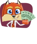 Fox with a Tie Cartoon Vector Character AKA Luke Foxman - Shape 2