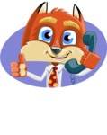 Fox with a Tie Cartoon Vector Character AKA Luke Foxman - Shape 3