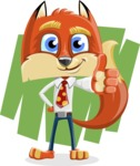 Fox with a Tie Cartoon Vector Character AKA Luke Foxman - Shape 7