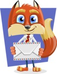 Fox with a Tie Cartoon Vector Character AKA Luke Foxman - Shape 11