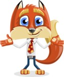 Fox with a Tie Cartoon Vector Character AKA Luke Foxman - Sorry