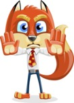 Fox with a Tie Cartoon Vector Character AKA Luke Foxman - Stop 2