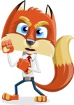 Fox with a Tie Cartoon Vector Character AKA Luke Foxman - Angry