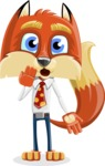 Fox with a Tie Cartoon Vector Character AKA Luke Foxman - Oops