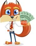 Fox with a Tie Cartoon Vector Character AKA Luke Foxman - Show me  the Money