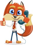 Fox with a Tie Cartoon Vector Character AKA Luke Foxman - Support