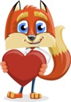 Fox with a Tie Cartoon Vector Character AKA Luke Foxman - Love