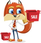 Fox with a Tie Cartoon Vector Character AKA Luke Foxman - Sale