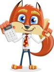 Fox with a Tie Cartoon Vector Character AKA Luke Foxman - Calculator