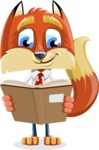Fox with a Tie Cartoon Vector Character AKA Luke Foxman - Book 1