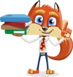 Fox with a Tie Cartoon Vector Character AKA Luke Foxman - Book 2