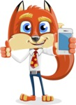 Fox with a Tie Cartoon Vector Character AKA Luke Foxman - iPhone