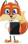 Fox with a Tie Cartoon Vector Character AKA Luke Foxman - iPad 1