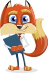 Fox with a Tie Cartoon Vector Character AKA Luke Foxman - Notepad 2