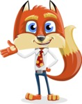Fox with a Tie Cartoon Vector Character AKA Luke Foxman - Showcase 2