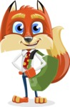 Fox with a Tie Cartoon Vector Character AKA Luke Foxman - Travel 2