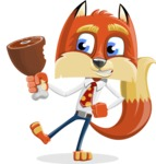 Fox with a Tie Cartoon Vector Character AKA Luke Foxman - Meat