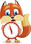 Fox with a Tie Cartoon Vector Character AKA Luke Foxman - Time is Yours