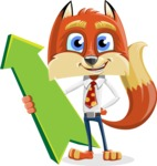Fox with a Tie Cartoon Vector Character AKA Luke Foxman - Pointer 1