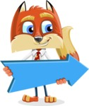 Fox with a Tie Cartoon Vector Character AKA Luke Foxman - Pointer 2