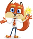 Fox with a Tie Cartoon Vector Character AKA Luke Foxman - Idea 1