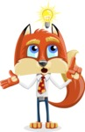 Fox with a Tie Cartoon Vector Character AKA Luke Foxman - Idea 2