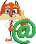 Fox with a Tie Cartoon Vector Character AKA Luke Foxman - Email