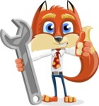 Fox with a Tie Cartoon Vector Character AKA Luke Foxman - Repair