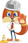 Fox with a Tie Cartoon Vector Character AKA Luke Foxman - Under Construction 1