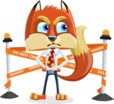 Fox with a Tie Cartoon Vector Character AKA Luke Foxman - Under Construction 2